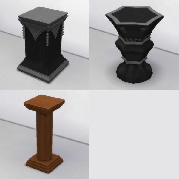Mod The Sims: Three Pedestals by TheJim07