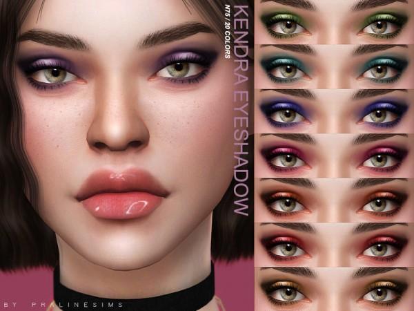 The Sims Resource: Kendra Eyeshadow N75 by Pralinesims