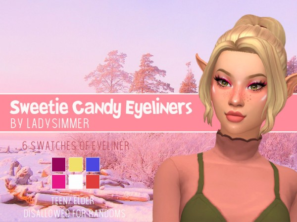 The Sims Resource: Sweetie Candy Eyeliners by LadySimmer94