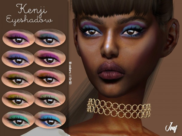 The Sims Resource: Kenji Eyeshadow N.95 by IzzieMcFire
