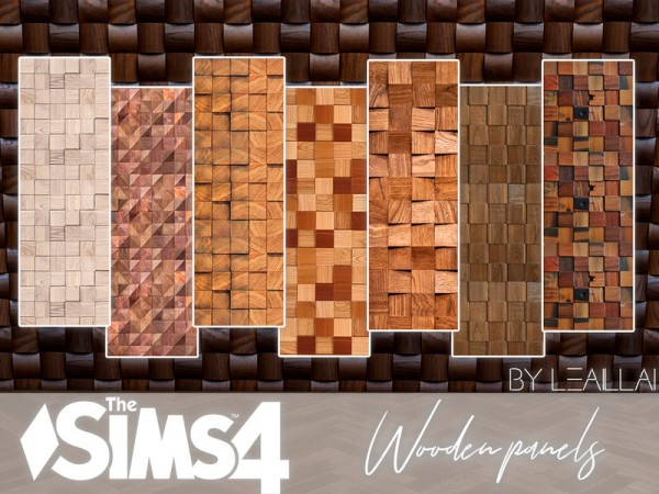 The Sims Resource: Wooden panel walls by LeaIllai