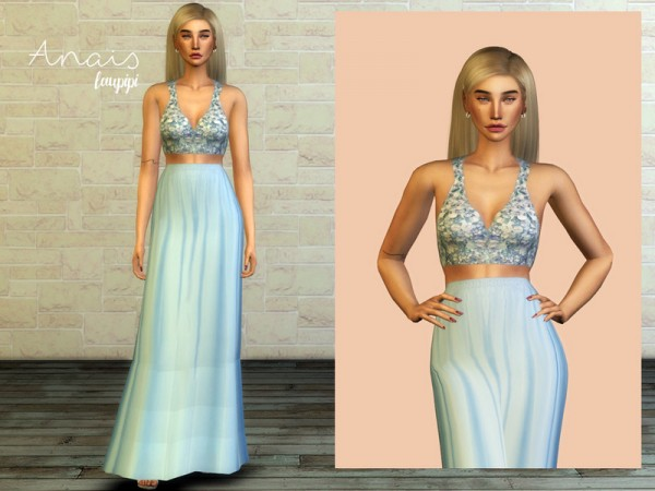 The Sims Resource: Anais Dress by Laupipi