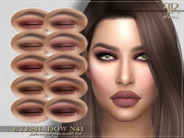The Sims Resource: Eyeshadow N41 by FashionRoyaltySims