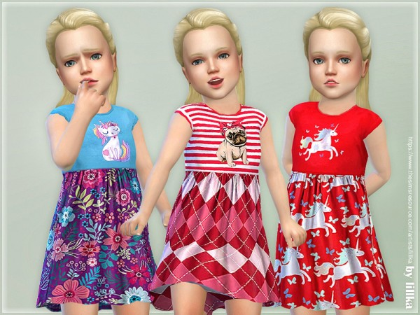 The Sims Resource: Toddler Dresses Collection P104 by lillka