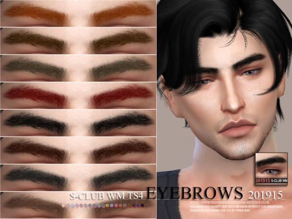 The Sims Resource: Eyebrows 201915 by S Club