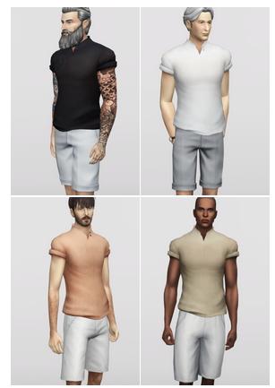 Rusty Nail: Stand Up Collar Shirt M