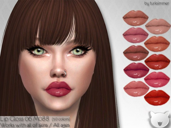The Sims Resource: Lip Gloss 06 M088 by turksimmer