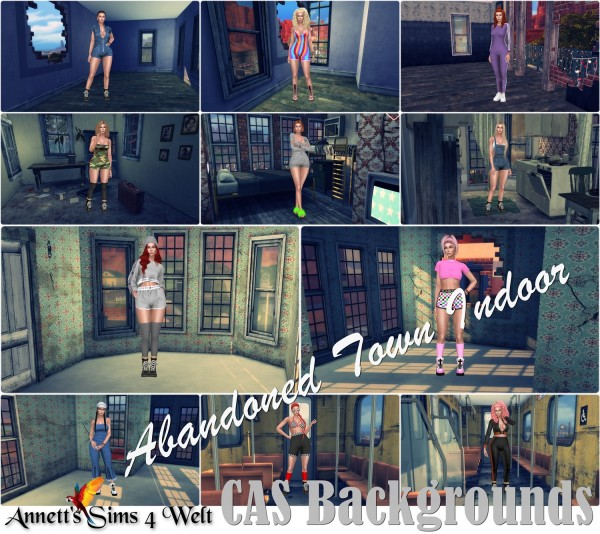 Annett`s Sims 4 Welt: CAS Backgrounds   Abandoned Town   Indoor