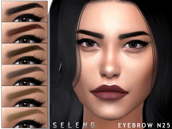 The Sims Resource: Eyebrows N25 by Seleng