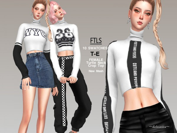 The Sims Resource: FTLS   Crop Top by Helsoseira