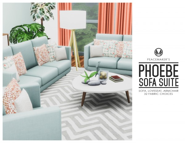 Simsational designs: Phoebe Sofa Suite   Matching Sofa, Loveseat and Armchair