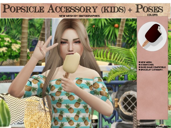 Simtographies: Popsicle Accessory for Kids and Poses