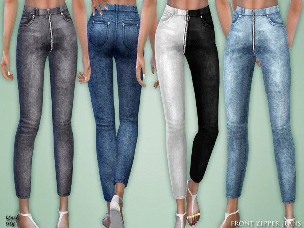 The Sims Resource: Front Zipper Jeans by Black Lily