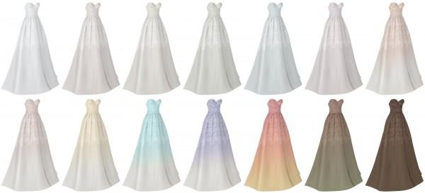 Lazyeyelids: Lace corset wedding dress