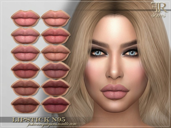 The Sims Resource: Lipstick N95 by FashionRoyaltySims