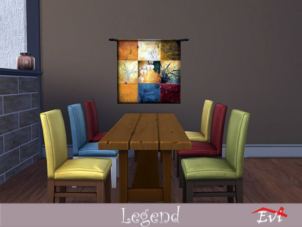 The Sims Resource: Legend walls decor by evi