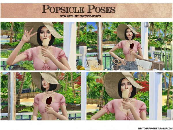 Simtographies: Popsicle Accessory and Poses