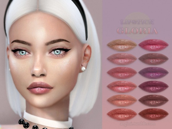The Sims Resource: Lipstick Gloria by ANGISSI