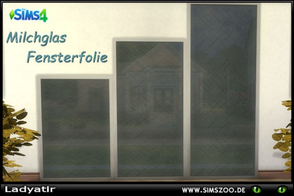 Blackys Sims 4 Zoo: Frosted glass window film by ladyatir