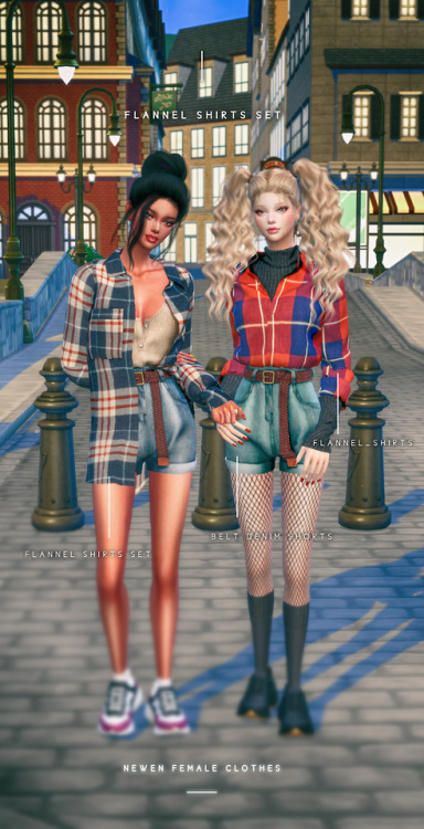 Newen: Flannel Shirts Set outfit