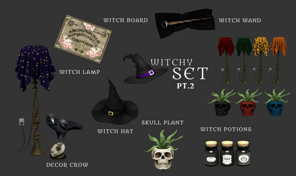 Leo 4 Sims: Witchy Set PT.2