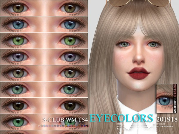 The Sims Resource: Eyecolors 201918 by S Club