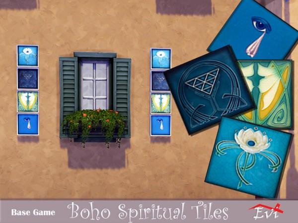 The Sims Resource: Boho Spiritual Tiles by evi