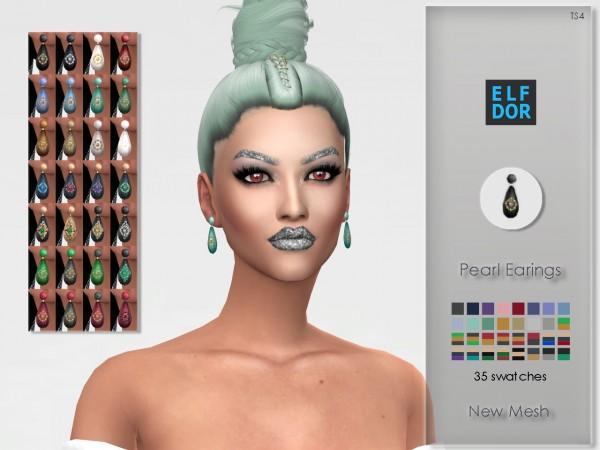 Elfdor: Pearl Earrings