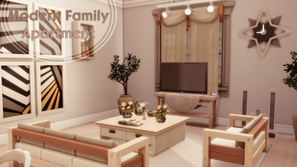 MSQ Sims: Modern family apartment