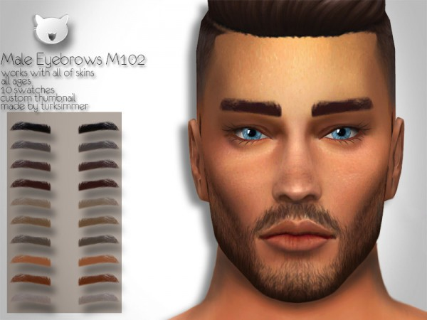 The Sims Resource: Eyebrows M102 by turksimmer