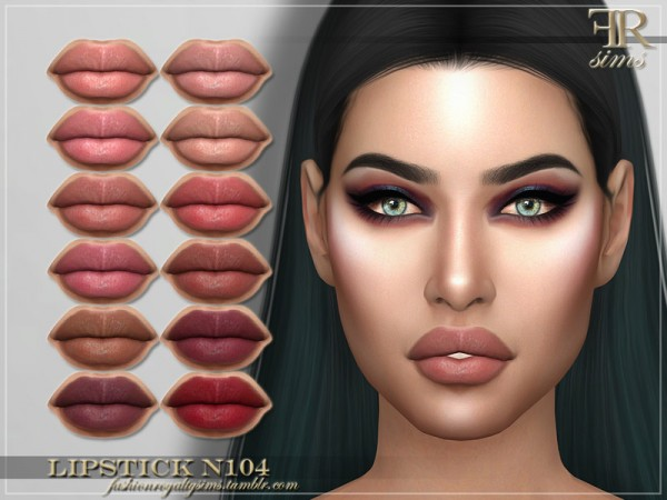 The Sims Resource: Lipstick N104 by FashionRoyaltySims
