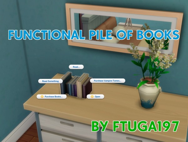 Mod The Sims: Functional Pile of Books by FTuga197