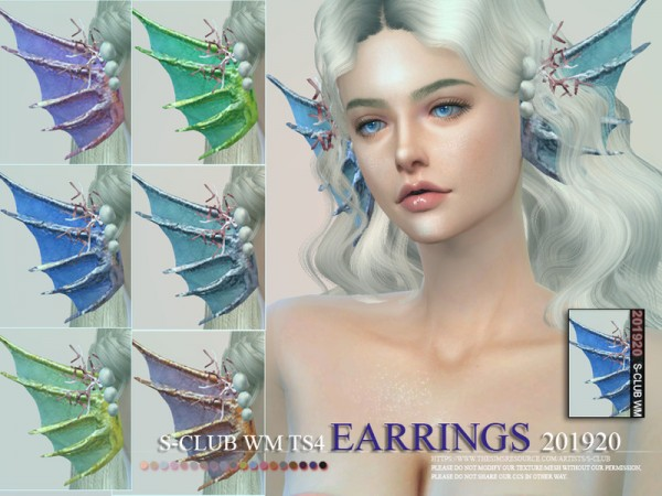 The Sims Resource: Earrings 201920 by S Club