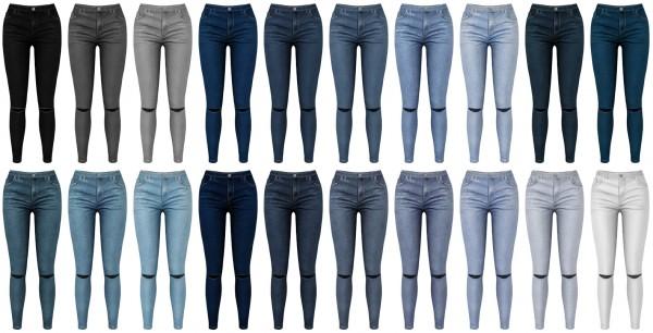 Lazyeyelids: Ripped knees skinnies