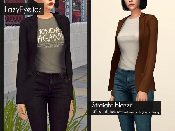 Lazyeyelids: Straight blazer
