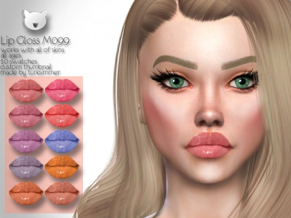 The Sims Resource: Lip Gloss M099 by turksimmer