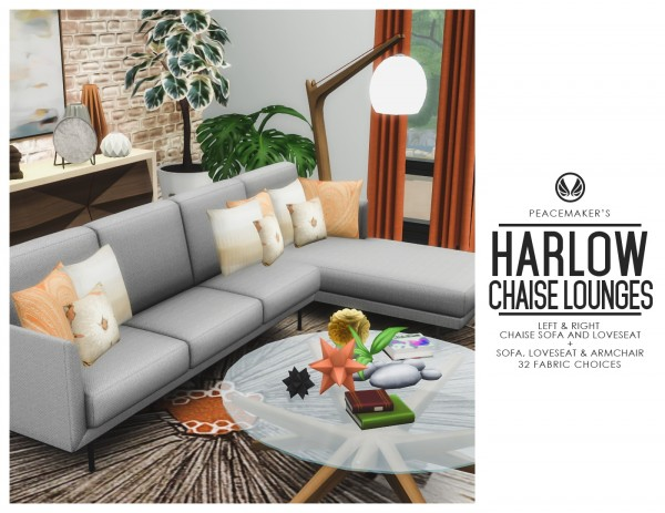 Simsational designs: Harlow Chaise Lounges