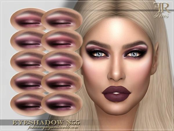 The Sims Resource: Eyeshadow N55 by FashionRoyaltySims
