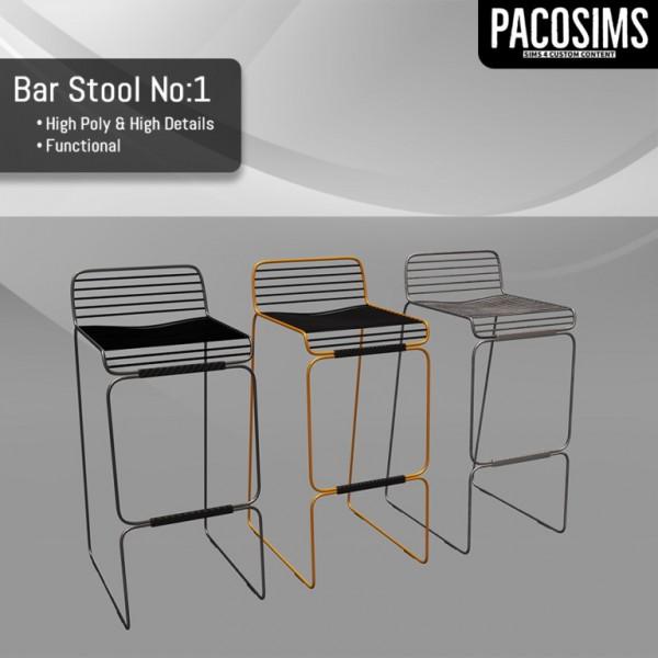 Paco Sims: Bar Stool No 1