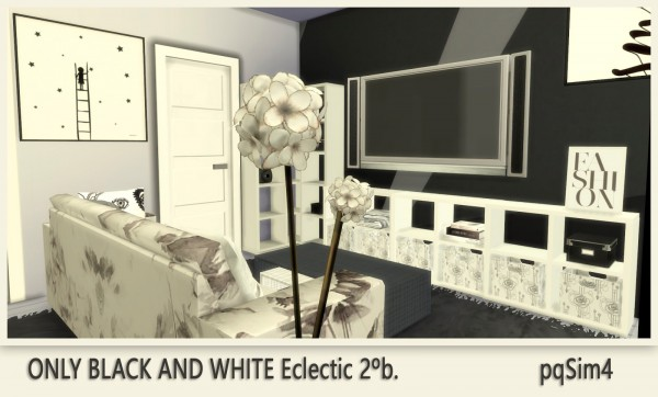 PQSims4: Only Black and White Appartment