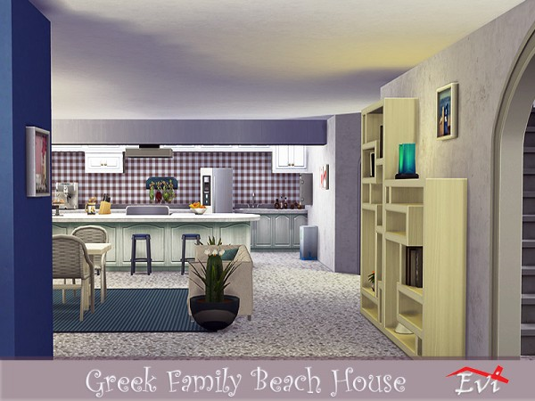 The Sims Resource: Greek Family Beach House by evi