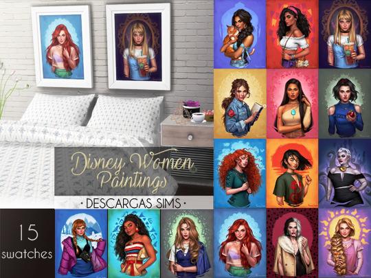 Descargas Sims: Disney Women Paintings