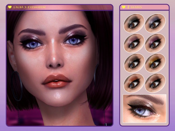 The Sims Resource: Lalna  Eyeshadow by Screaming Mustard