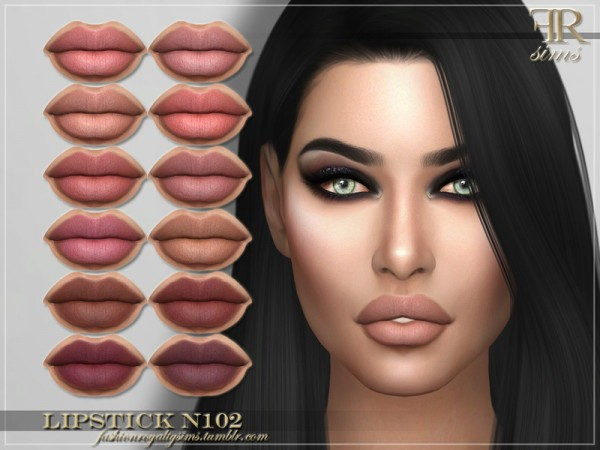 The Sims Resource: Lipstick N102 by FashionRoyaltySims