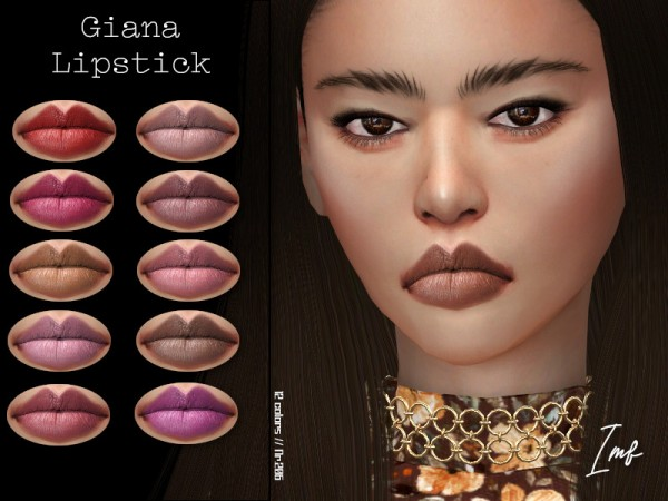 The Sims Resource: Giana Lipstick N.206 by