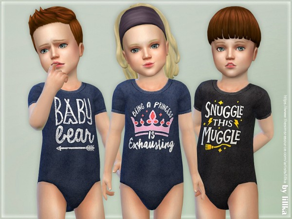 The Sims Resource: Toddler Onesie 04 by lillka