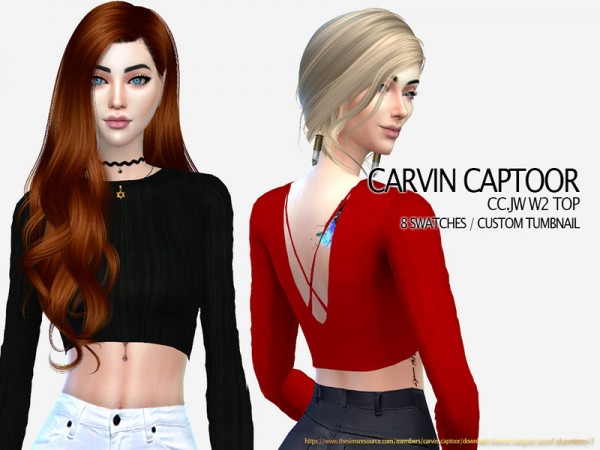 The Sims Resource: Jw W2 Top by carvin captoor