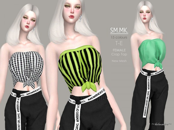 The Sims Resource: SM.MK. Tube top by Helsoseira