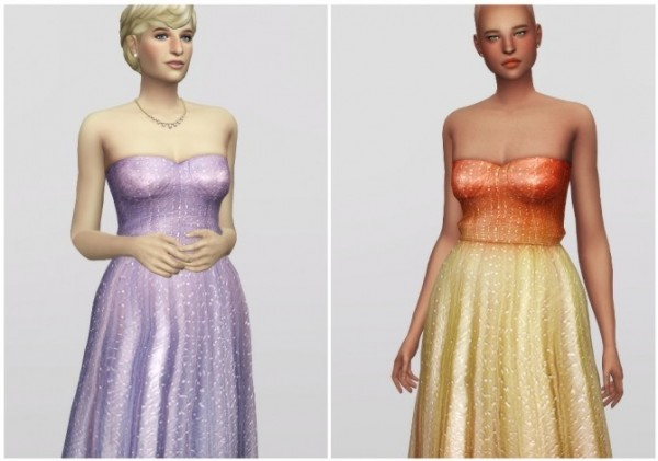Rusty Nail: Crystal Embellished Tulle Gown
