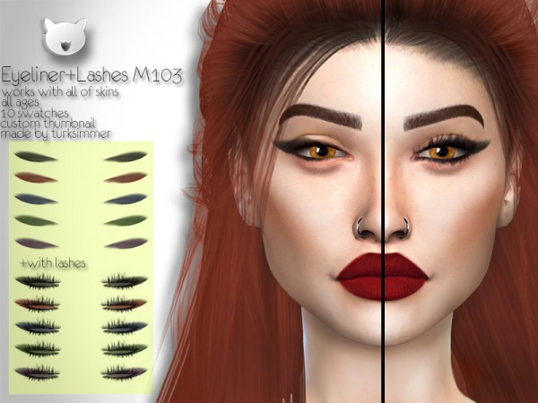 The Sims Resource: Eyeliner and Lashes M103 by turksimmer